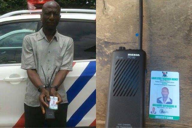 man arrested for impersonating a Nigerian Police officer and extorting people in Lagos