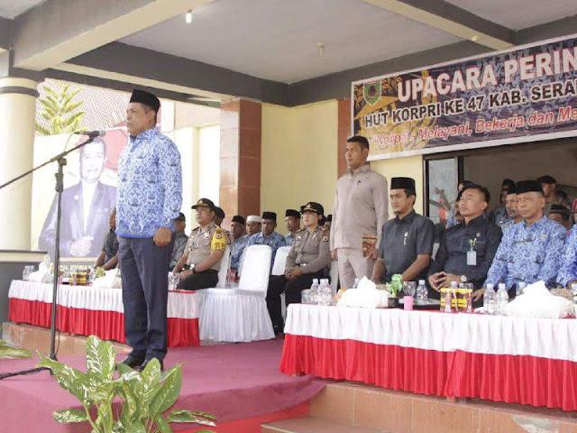 Abdul Mukti Keliobas Pimpin HUT Korpri ke 47 di SBT