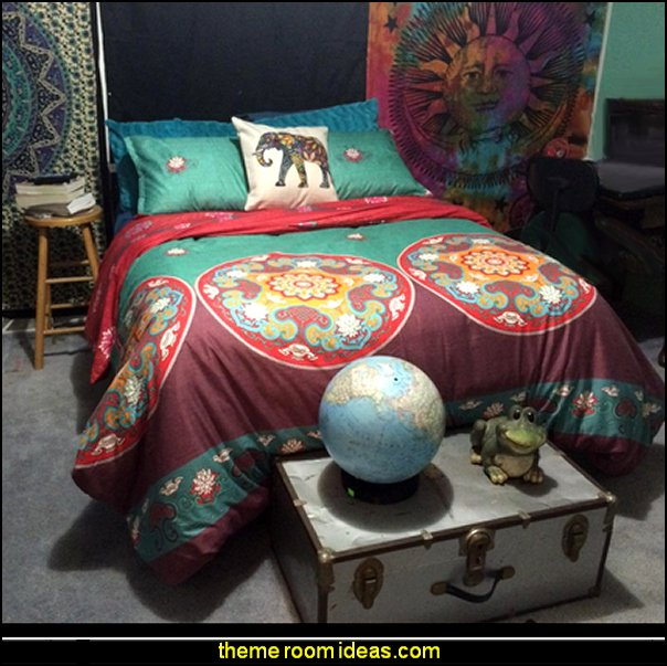 Bohemia Exotic Patterns, Reversible Color Design  exotic bedroom decorating ideas - exotic global style decorating - exotic decor - exotic style furnishings - tropical theme decorating - Moroccan style  Arabian nights - Egyptian theme decorating - Oriental bedrooms - global bazaar themed  - I dream of Jeannie theme bedrooms - exotic design far east furnishings Exotic bedroom decor‎ - Ethnic style decorating ideas - Ethnic style furnishings - Boho style