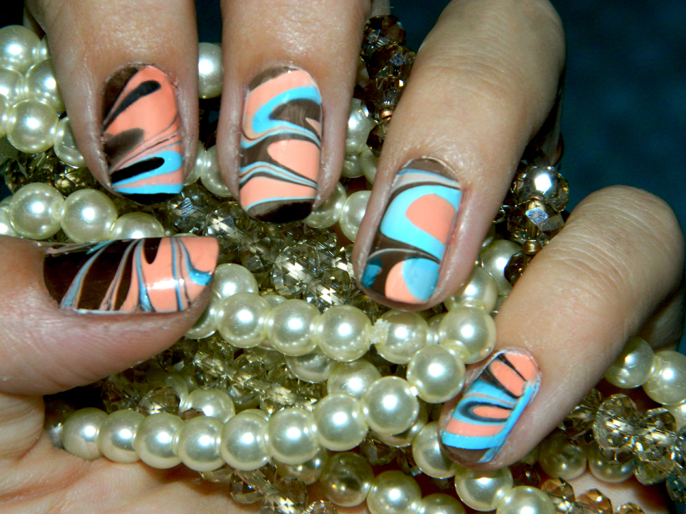 Makeup And Art Freak Marble Nail Art Step By Step Photo