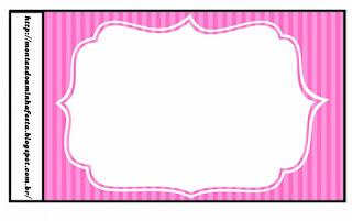Etiquetas de Rayas Rosa para imprimir gratis.