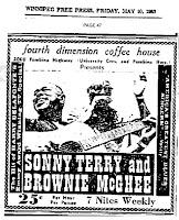 Sonny Terry 1963 Winnipeg