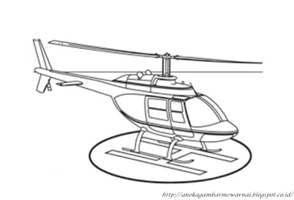 Gambar Mewarnai Helikopter Untuk Anak PAUD dan TK 2