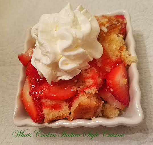 Strawberry Easy Pound Cake Dessert