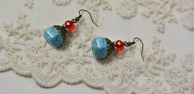 This Pair Of Beading Earrings Is So Easy To Make That You All Can Diy A Yourself Quickly At Home Hope Like Them Then Let S See