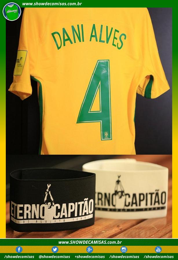 7801cb11c9 Daniel Alves será camisa 4 e braçadeira homenageará o Eterno Capitão ...