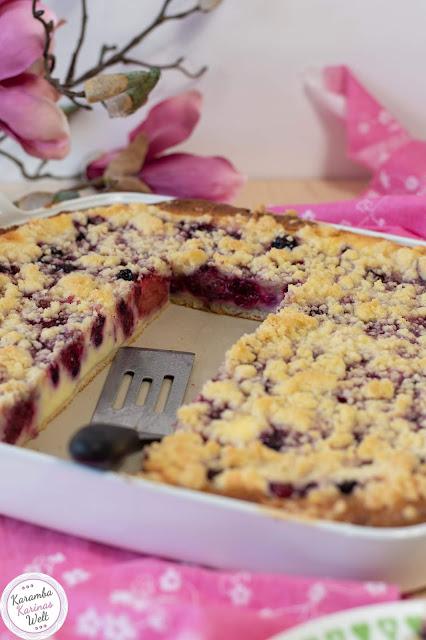 Rezept für Streusel Beeren Cheesecake
