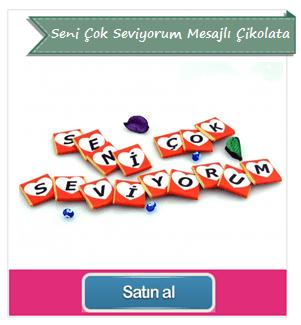 Seni Çok Seviyorum Mesajlı Çikolata