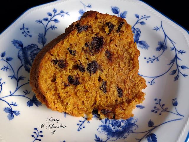 Bizcocho de calabaza con pepitas de chocolate - Pumpkin chocolate chip bundt cake