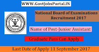 National Board of Examinations Recruitment 2017– Junior Assistant