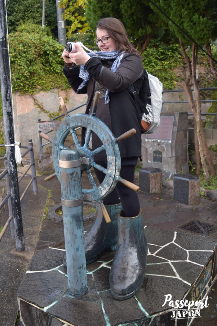 Portrait dans les bottes de Sakamoto Ryoma, Teramachi, Nagasaki