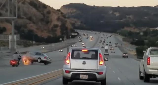 Φοβερό τροχαίο μετά από καβγά οδηγών σε αυτοκινητόδρομο της Καλιφόρνια