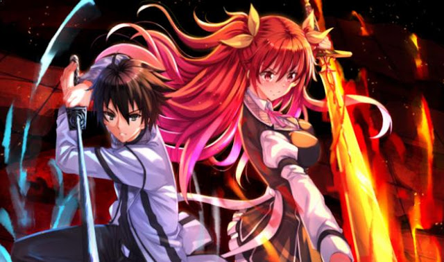 Top Best Romance Magic School Anime List - Rakudai Kishi no Cavalry (Chivalry of a Failed Knight)