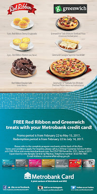Metrobank Credit Cards: Free Red Ribbon and Greenwich Treats