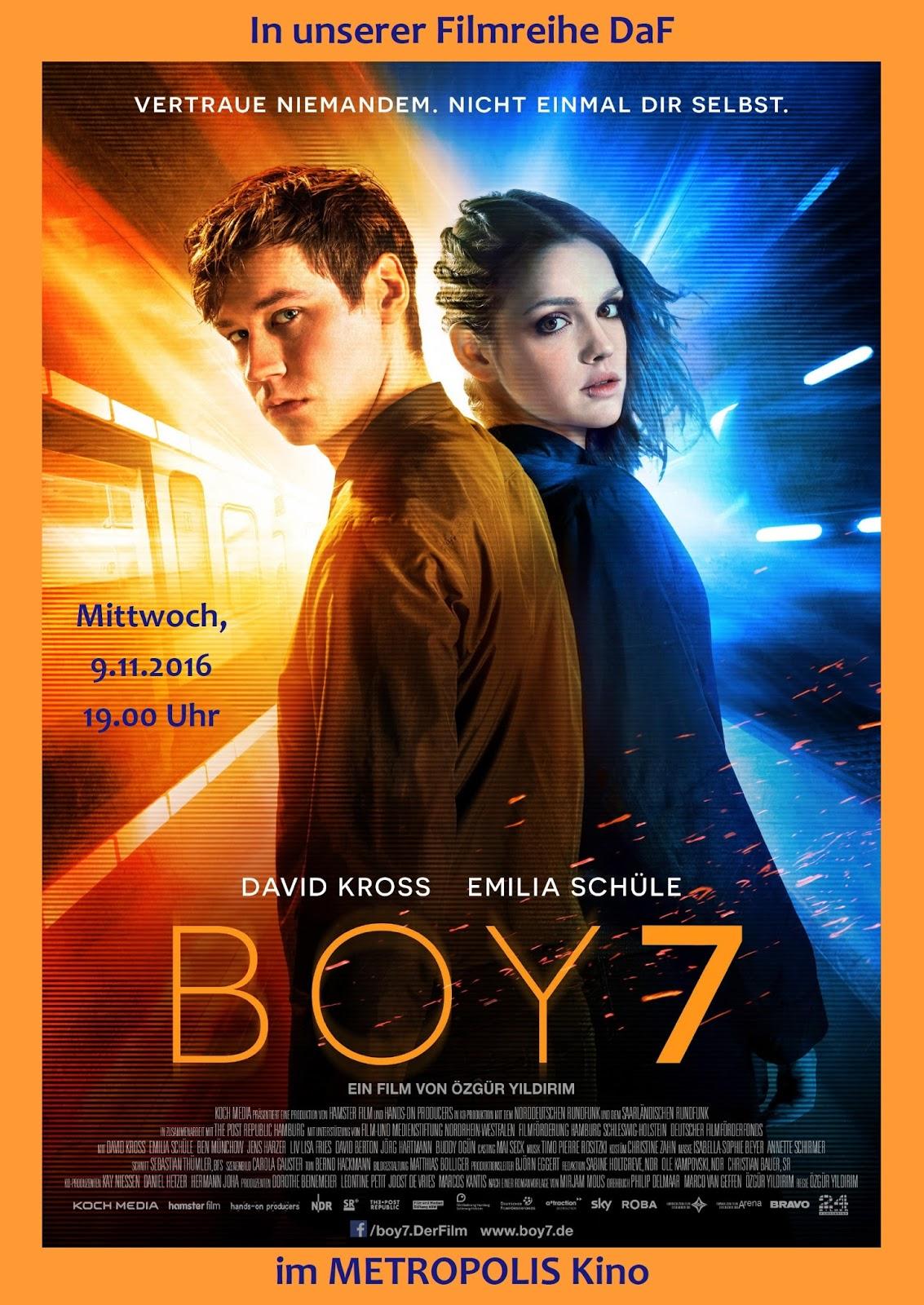Filmteam Colón: BOY 7 am 9. November 2016 bei DaF im METROPOLIS Kino