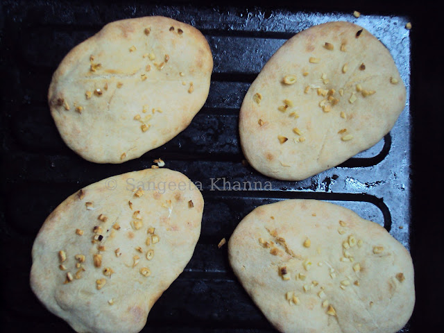 whole wheat naan baked in oven