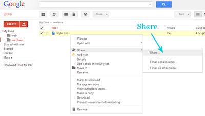 Mendapatkan Link Hosting Google Drive