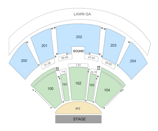 Bb T Pavilion Seating Chart Row Seat Numbers Tickpick