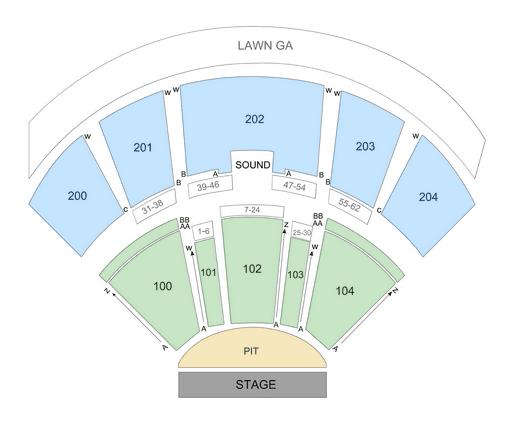 Bb T Pavilion Seating Chart Row Seat Numbers Tickpick