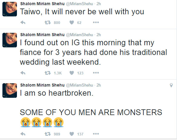 Naija guy Taiwo secretly marries while dating girl who sponsored his masters