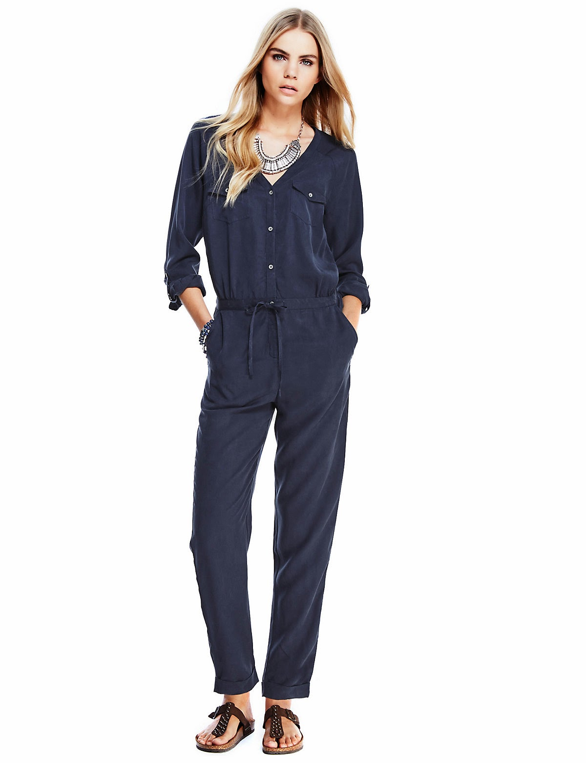 M&S Indigo denim jumpsuit