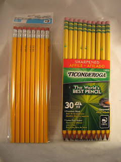 snippety gibbet walmart pencils vs ticonderoga pencils