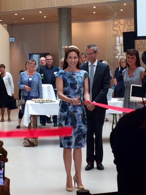 Princess Mary was very happy with the final result and she opened the new hospital, as Patron of the Danish Mental Heatlh Fund. The new hospial will be the most modern in Denmark
