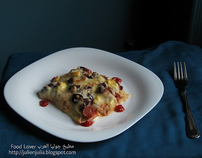 Three Cheese Lasagna with Sausage لازانيا ثلاث أجبان بالسوسيس