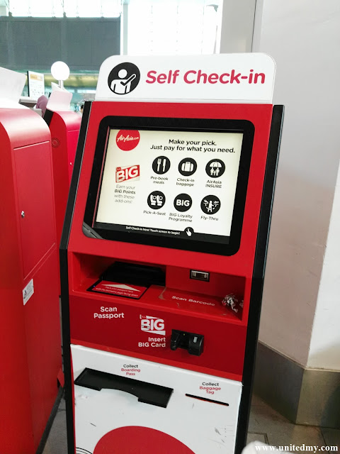 Airasia check in machine
