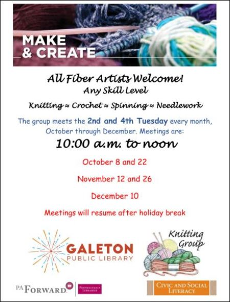 10-22 Galeton Knitting Group Resumes