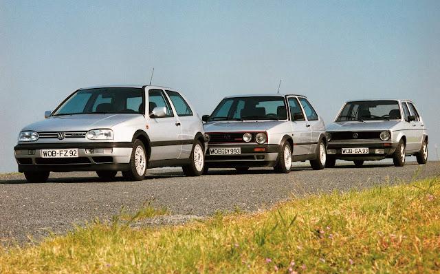 VW Golf GTI: Mk2 x Mk2 x Mk1