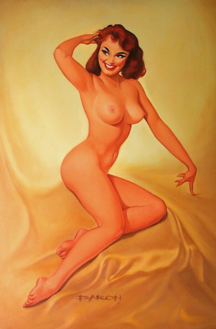 Hairy vintage nude pin up