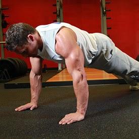flexão de braço posição inicial