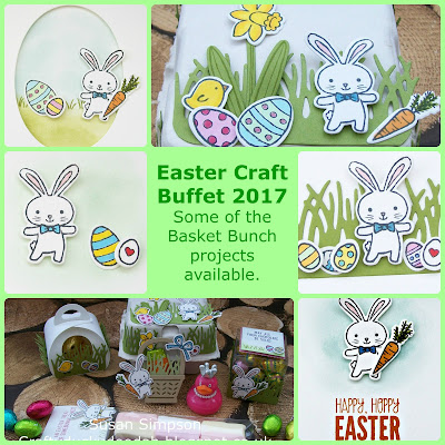 Stampin' Up! UK Independent Demonstrator Susan Simpson, Craftyduckydoodah!, Basket Bunch, Easter Craft Buffet, Supplies available 24/7 from my online store,