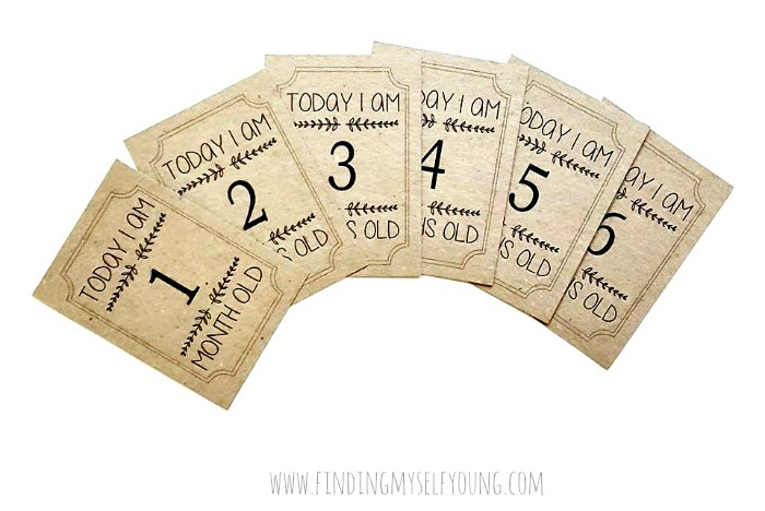 neutral baby milestone cards