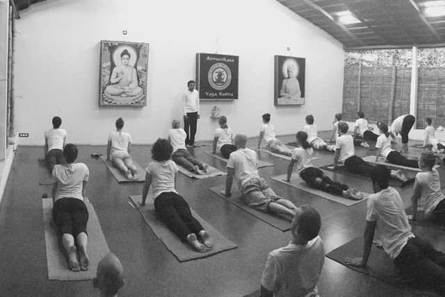 Venkatesha Teaching Hatha Yoga in Mysore