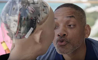 Actor Will Smith meets the humanoid robot Sophia