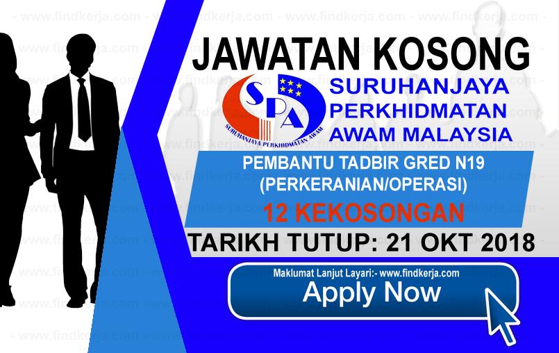 JawatanKerja Kosong SPA - Suruhanjaya Perkhidmatan Awam Malaysia logo www.ohjob.info www.findkerja.com oktober 2018