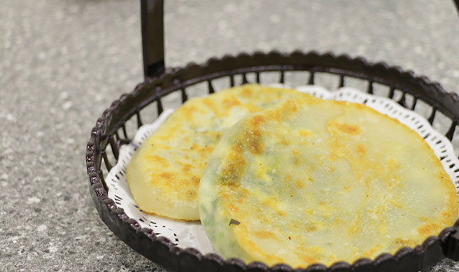 Egg and Leek Pancake