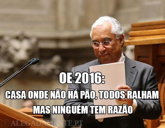 Alegadamente: Imagem de António Costa – OE 2016: Casa onde não há pão, todos ralham mas ninguém tem razão