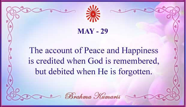 Thought For The Day May 29