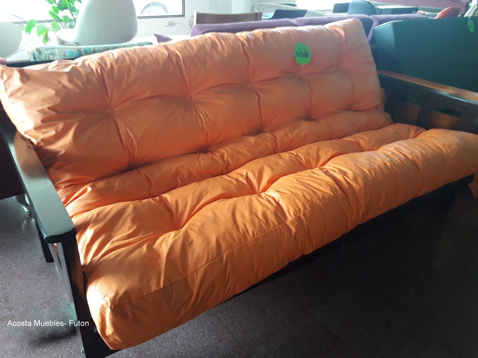 Acosta muebles y electr nica fut n o sill n cama el for Sillon futon cama