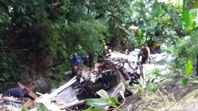 30 killed as bus falls into gorge in Jaintia hills