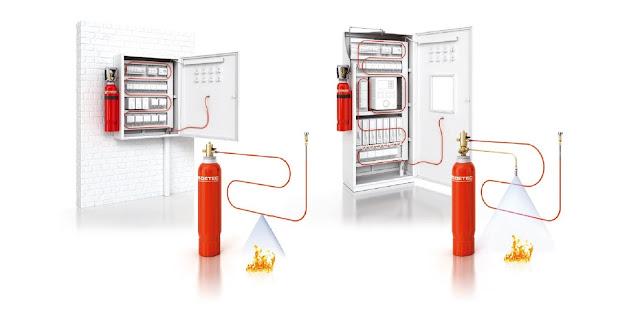 Instalatie completa pentru stins incendii panouri electrice