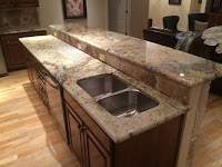 granite countertop with sink cutout