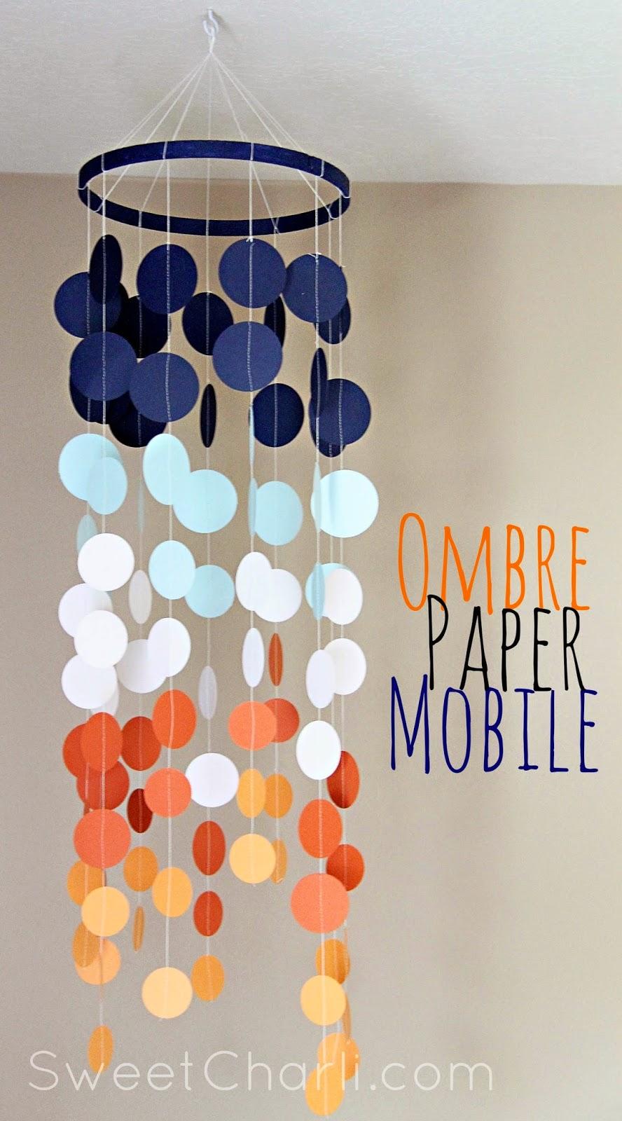 mobile en papier DIY