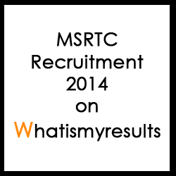 MSRTC Recruitment 2014 for 6575 Vacancies on mahast.in