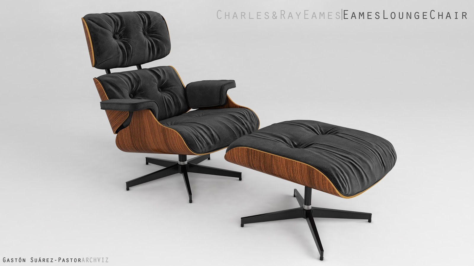 Peachy Maxwell 3D Resources Free 3D Model Eames Lounge Chair And Short Links Chair Design For Home Short Linksinfo