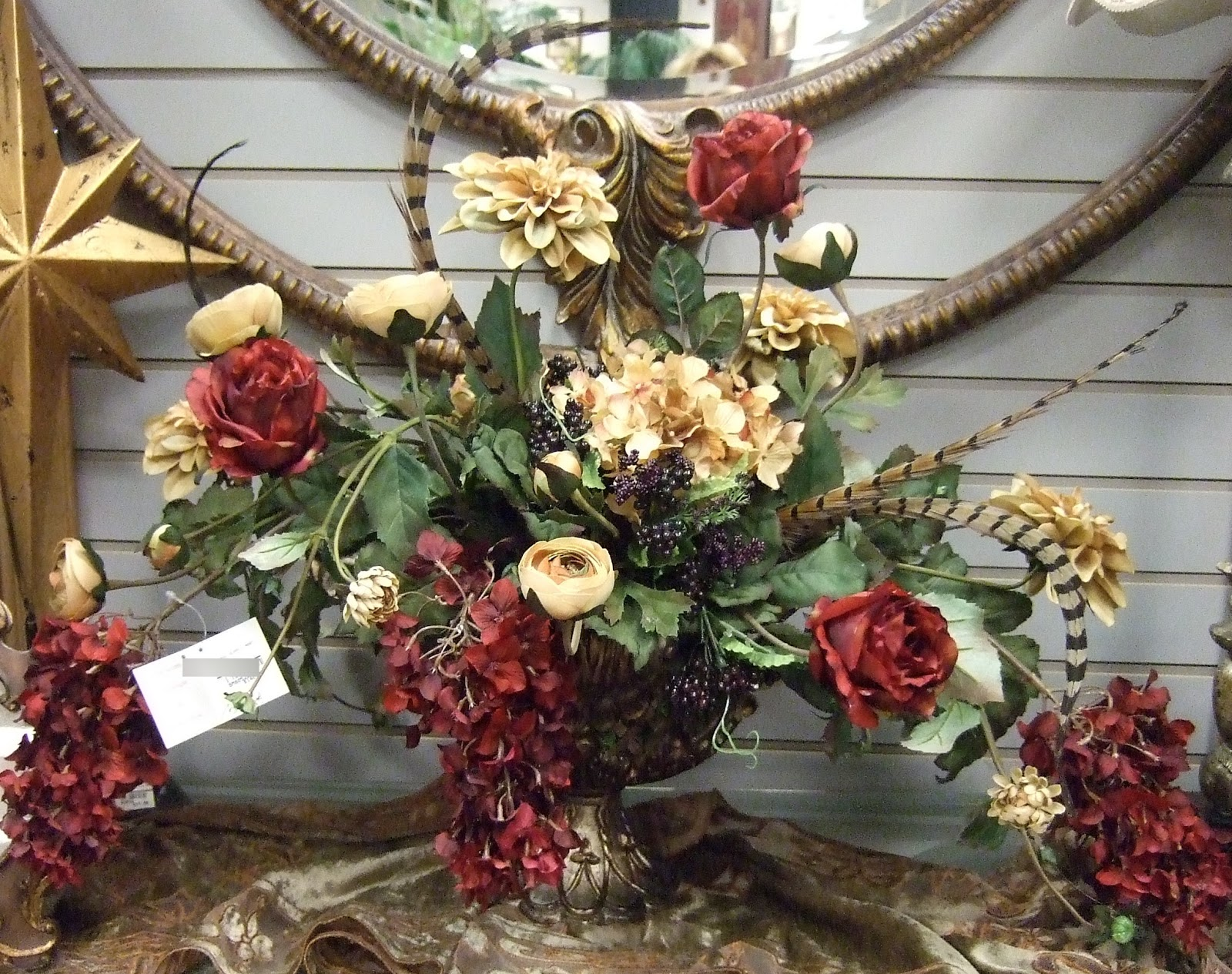 Ana silk flowers brown sage and burgundy