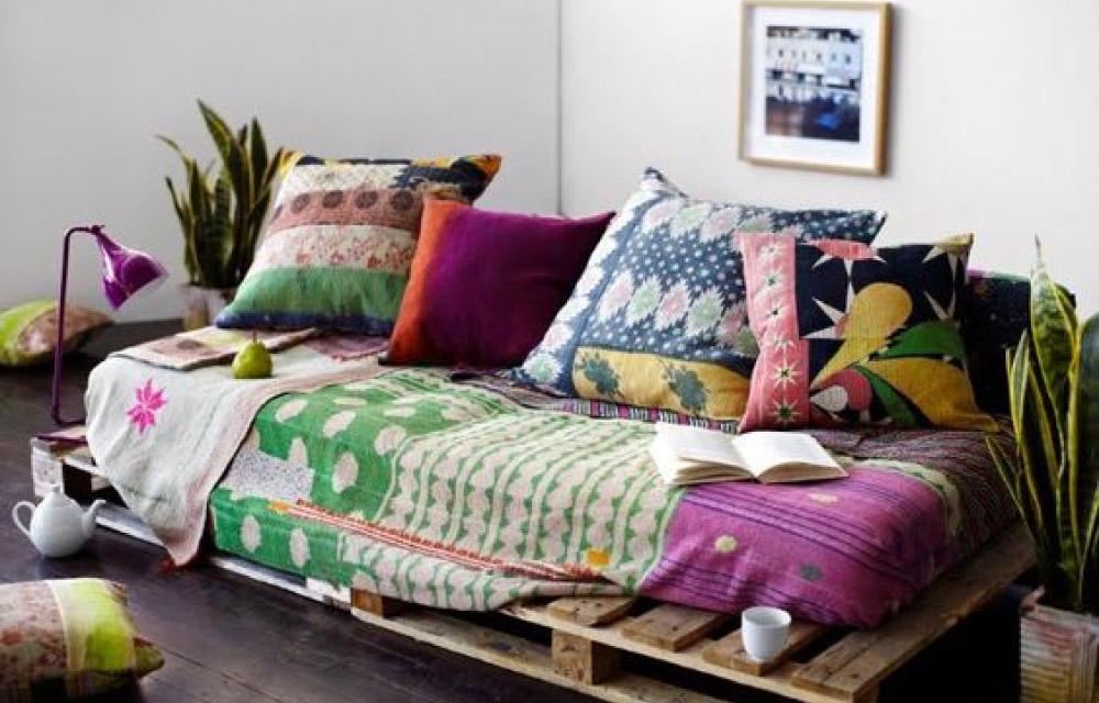 Creare un coloratissimo angolo relax in stile boho chic for Boho style arredamento